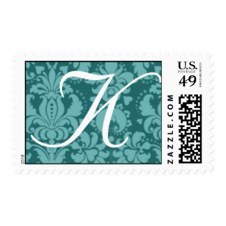 Baroque Custom Color Custom Monogram Wedding Stamp
