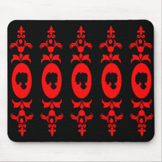 Baroque Damask Cameo Mouse Pad