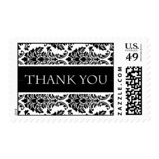 Baroque Damask Design Thank You Wedding Postage