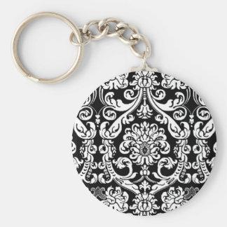Baroque Damask Keychain