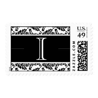 Baroque Damask Monogram I Wedding Stamp