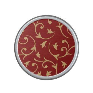 Baroque Design Gold on Red Speaker