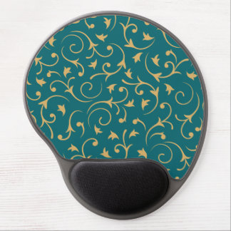 Baroque Design – Gold on Teal Gel Mouse Pad