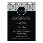Baroque Elegance (Aqua) Wedding Invitation
