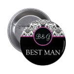 Baroque Elegance Best Man Button