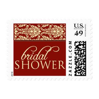 Baroque Elegance Bridal Shower Stamp (crimson)