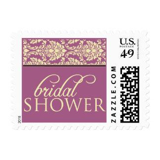Baroque Elegance Bridal Shower Stamp (lavender)