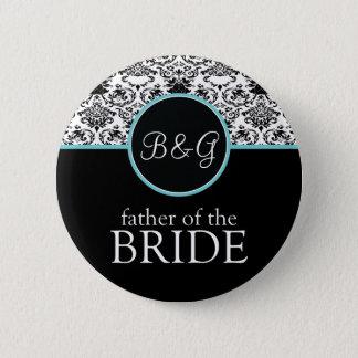 Baroque Elegance Father of the Bride-Aqua Pinback Button