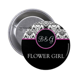 Baroque Elegance Flower Girl Button