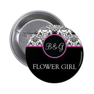 Baroque Elegance Flower Girl Button