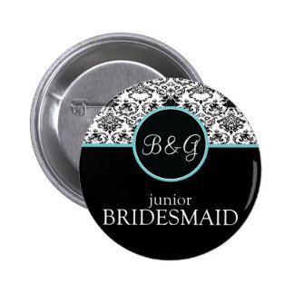Baroque Elegance Junior Bridesmaid Button