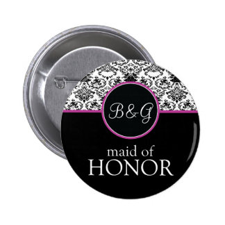 Baroque Elegance Maid of Honor Button