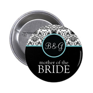 Baroque Elegance Mother of the Bride-Aqua Button