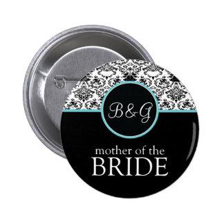 Baroque Elegance Mother of the Bride-Aqua Button