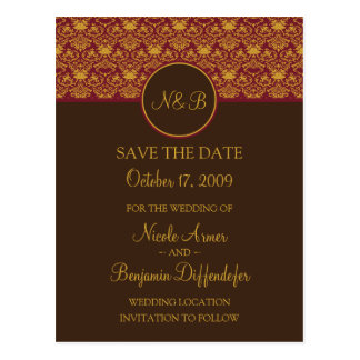 Baroque Elegance Save The Date 1-Custom for Nicole Postcard