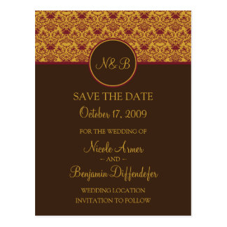 Baroque Elegance Save The Date 2-Custom for Nicole Postcard