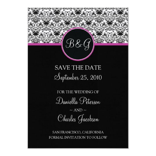 Baroque Elegance Save The Date Announcement (Pink)