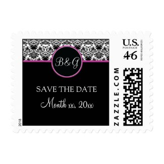 Baroque Elegance Save The Date Small Postage stamp