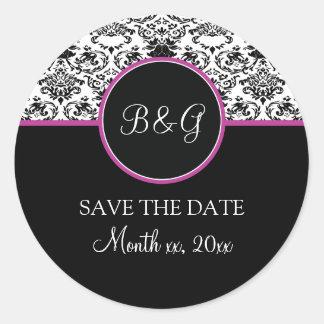 Baroque Elegance Save The Date Sticker