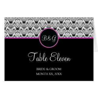 Baroque Elegance Table 11 Cards  (Hot Pink)