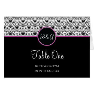 Baroque Elegance Table 1 Cards  (Hot Pink)