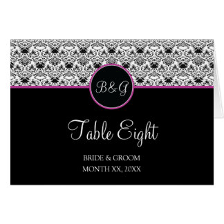 Baroque Elegance Table 8 Cards  (Hot Pink)