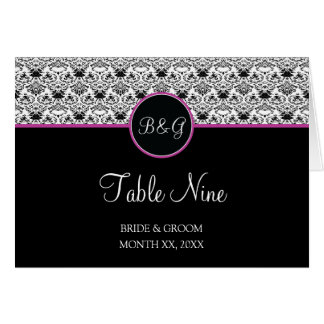 Baroque Elegance Table 9 Cards  (Hot Pink)