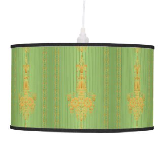 Baroque floral pattern with border ceiling lamp