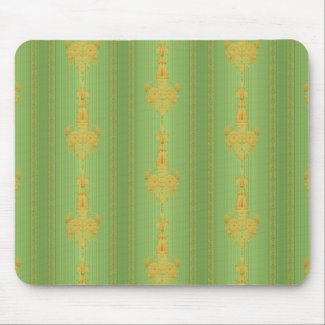 Baroque floral pattern with border mouse pad