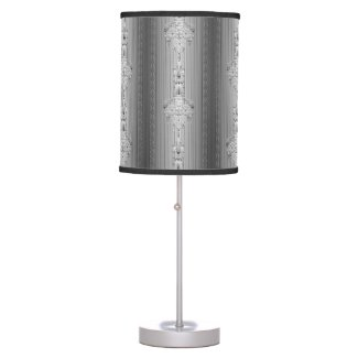 Baroque floral pattern with border table lamp