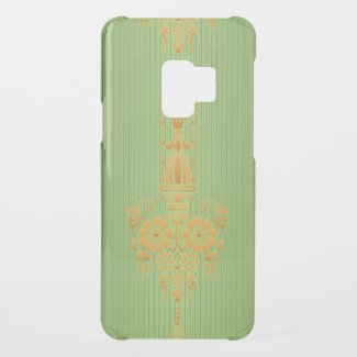 Baroque floral pattern with border... uncommon samsung galaxy s9 case