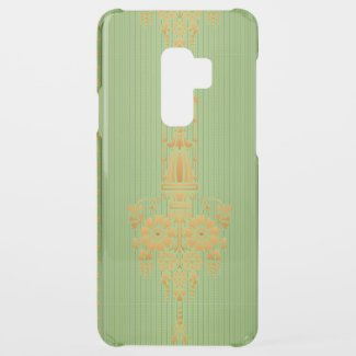 Baroque floral pattern with border... uncommon samsung galaxy s9 plus case