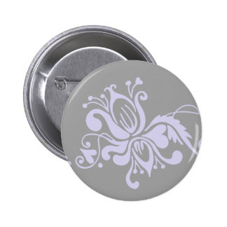Baroque Flower - Grey and Light Lilac Buttons