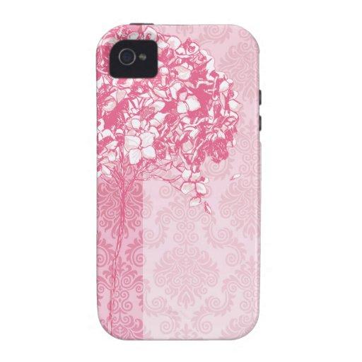 Baroque Flowerball designer - fuschia iPhone 4 Cover