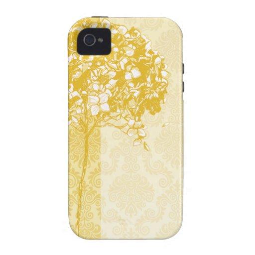 Baroque Flowerball designer - gold Case-Mate iPhone 4 Cases
