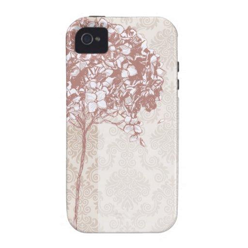 Baroque Flowerball designer - mulberry Case-Mate iPhone 4 Cases