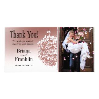 Baroque Flowerball Photo Thank You Card