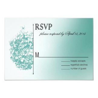 Baroque Flowerball RSVP Response 3.5x5 Paper Invitation Card