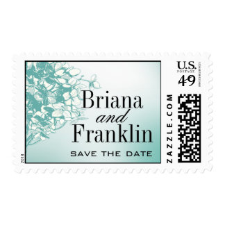 Baroque Flowerball - teal Postage