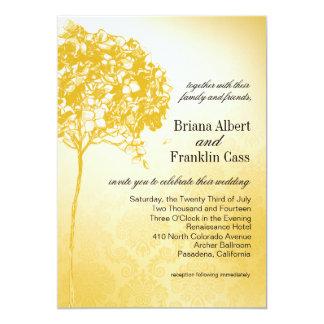 Baroque Flowerball Wedding gold 5x7 Paper Invitation Card