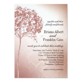 Baroque Flowerball Wedding mulberry 5x7 Paper Invitation Card
