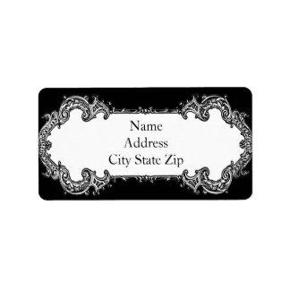Baroque Frame Address Personalized Address Label