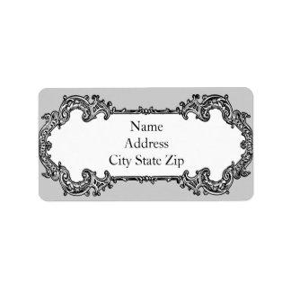 Baroque Frame Address Address Label