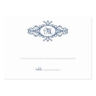 Baroque frame monogram wedding escort place card