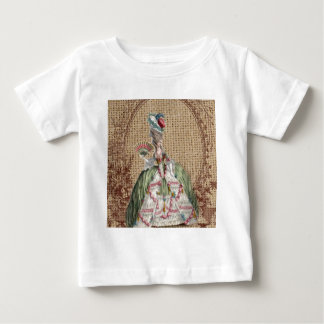 baroque french country burlap Marie Antoinette Baby T-Shirt