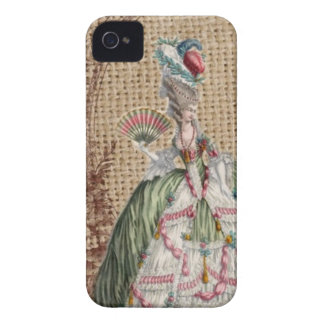 baroque french country burlap Marie Antoinette Case-Mate iPhone 4 Case