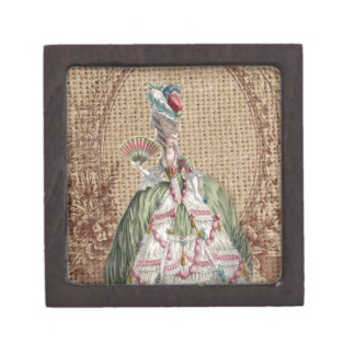 baroque french country burlap Marie Antoinette Gift Box
