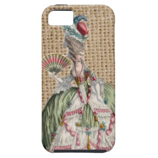baroque french country burlap Marie Antoinette iPhone SE/5/5s Case