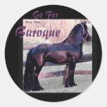 Baroque Friesian Stickers