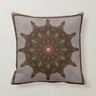 Baroque Gold Kaleidoscope Design No 01 Throw Pillow